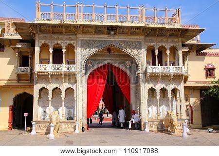 Jaipur, India - November 15: Rajendra Pol In City Palace On April 15, 2014  In Jaipur, India. Palace