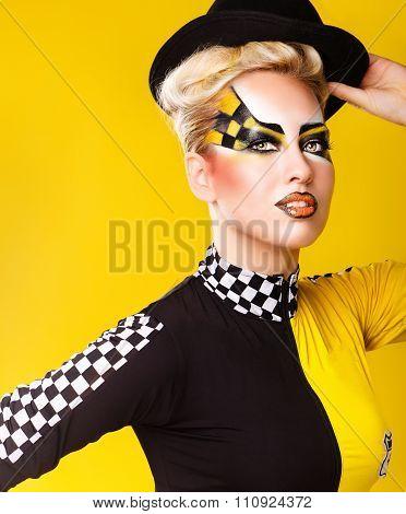 Girl Racer Hat. Portrait