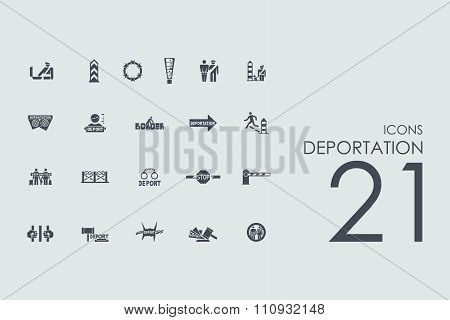 Set of deportation icons