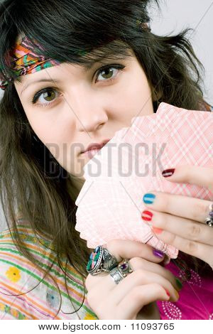 Soothsayer With Scrying Cards