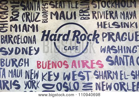Hard Rock Cafe at Jorge Newbery Airport in Buenos Aires