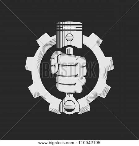 Car or bike repair shop logo template (concept).