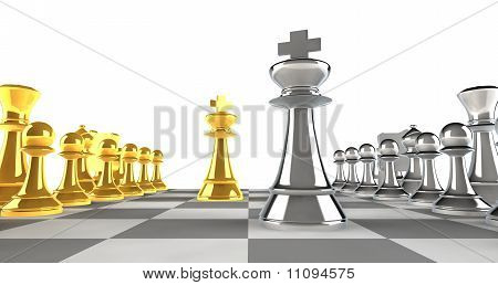 A Set Of Chess Pieces