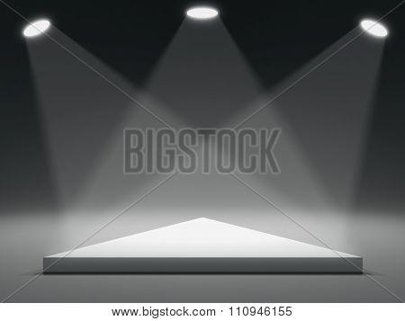 Triangle shape stage