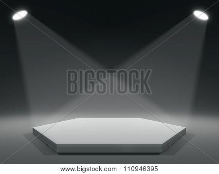 Pentagan shape stage