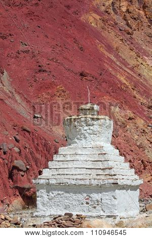 Buddhistic stupas (chorten) in the Himalayas a?? Ladakh, Jammu & Kashmir, India