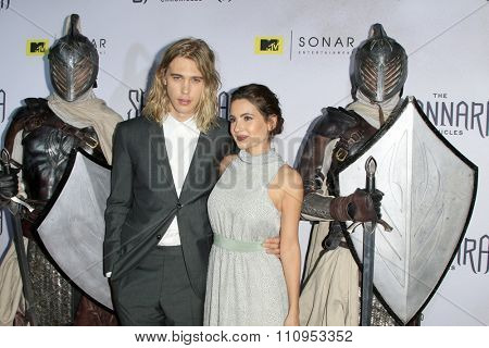 LOS ANGELES - DEC 4:  Austin Butler, Ivana Baquero at the he Shannara Chronicles at the iPic Theaters on December 4, 2015 in Los Angeles, CA