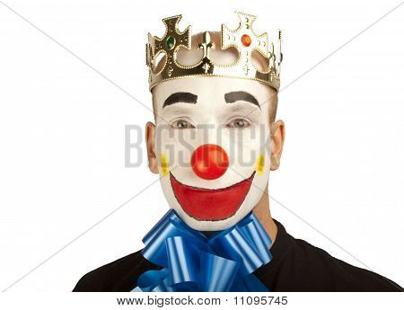 Clown with gift ribbon