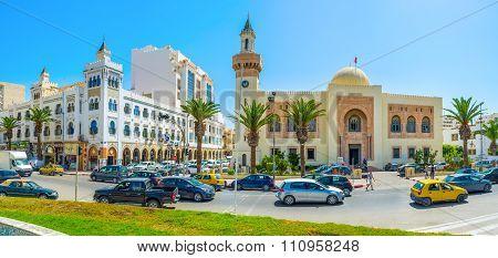 The Republic Square Of Sfax