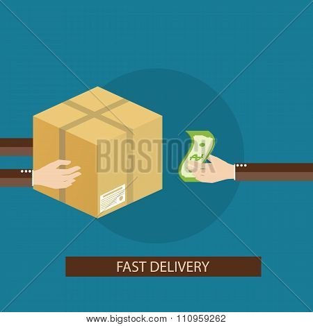 Vector Illustration Of Delivery Services
