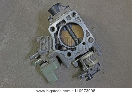 Throttle Body Removed From Japan Car