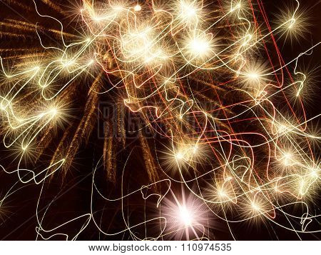 Golden Stars Abstract Background.