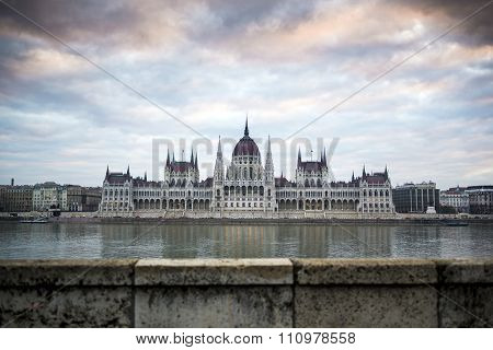 Parliament in Budapest capital city of Hungary Europe poster