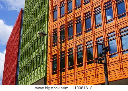 Colourful Modern Building Facade, London, UK