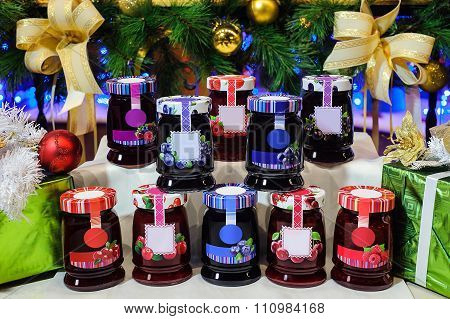 Jars Of Berry Jam
