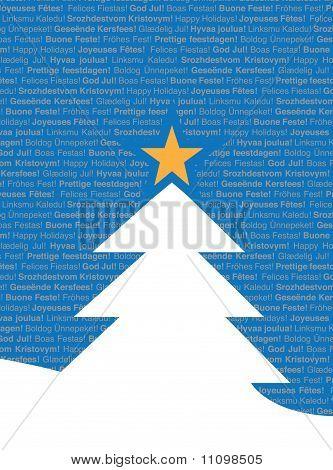 Multi-Lingual Christmas Tree Greeting