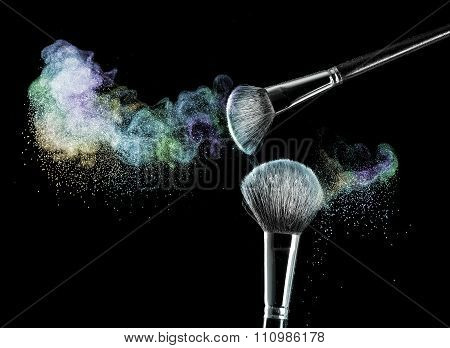 makeup brushes with powder