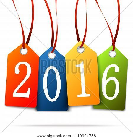 Hang Tags With Year 2016