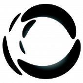Liquid circle splodge splatter shape isolated on white. poster