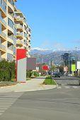 Podgorica, Montenegro, November, 2015: View of Cetinjski Put street in Podgorica, Montenegro poster