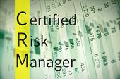 Business Acronym CRM as certified risk manager poster