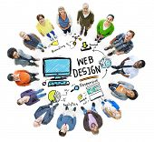 Content Creativity Digital Graphic Layout Webdesign Webpage Concept poster