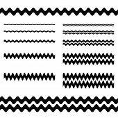 Graphic design elements - wave line page divider set poster