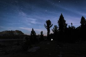 Night Sky In The Sierra Nevada Mountains