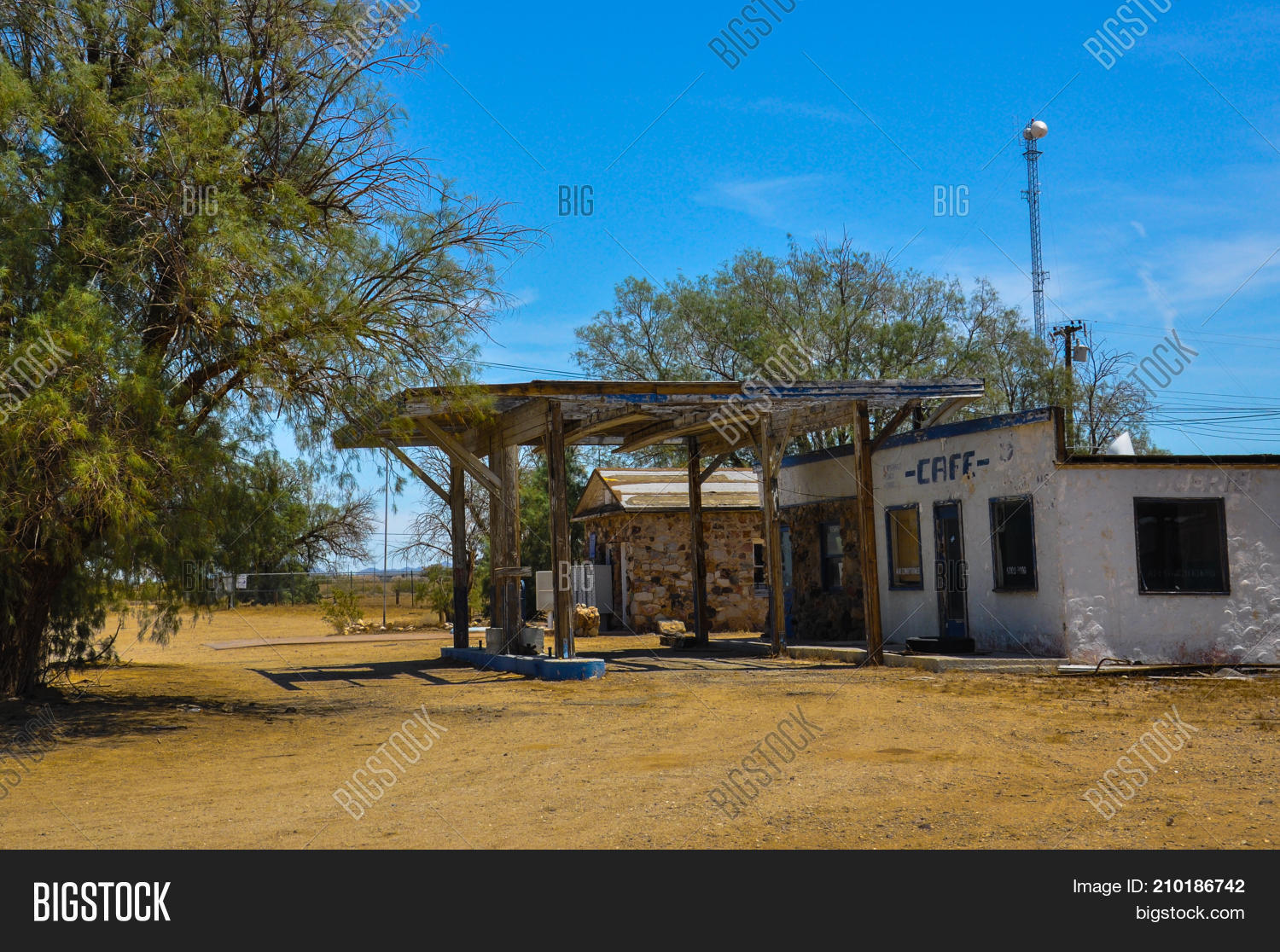 Abandoned Gas Station Image Photo Free Trial Bigstock