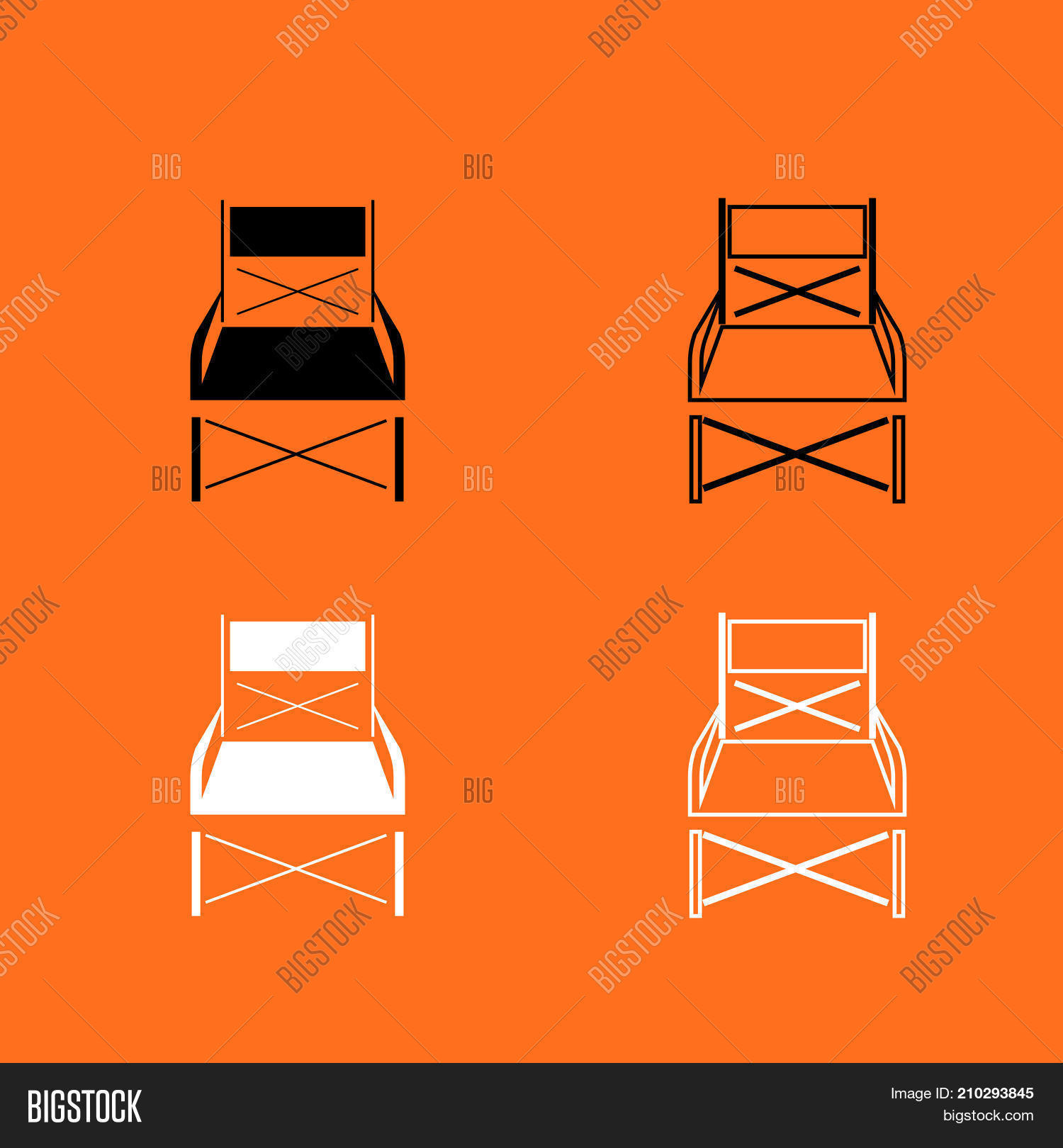 Phenomenal Folding Chair Black Vector Photo Free Trial Bigstock Pdpeps Interior Chair Design Pdpepsorg