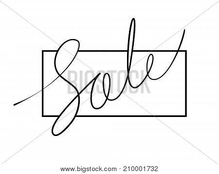 Calligraphic inscription Sale with frame. Creative design templates