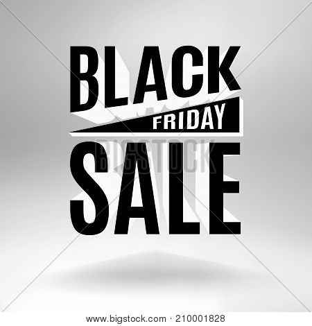 Black Friday holiday banner composed of 3d letters