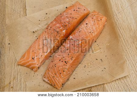 Fresh Raw Salmon Fillets