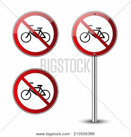 No Bicycle Signs Set