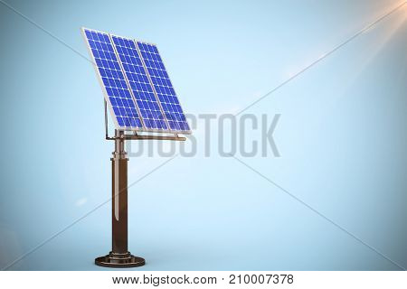 Image of 3D solar panel against blue background