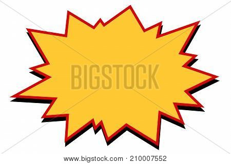 comic yellow burst. Pop art retro vector Illustrator