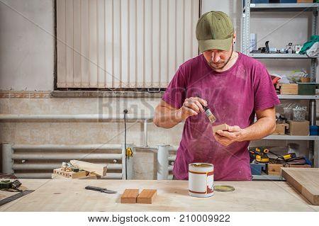 Man Carpenter Paint