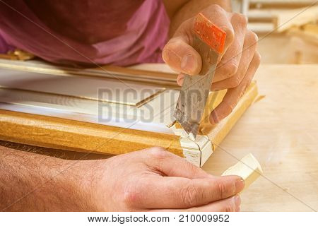 Man Carpenter Restoring