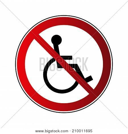 No Disabled Sign