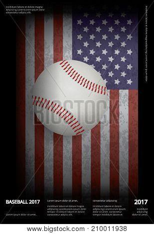 Baseball Championship Sport Poster Design Vector Illustration