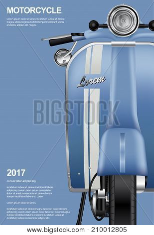 Vintage Motorcycle Poster Template Design Vector Illustration