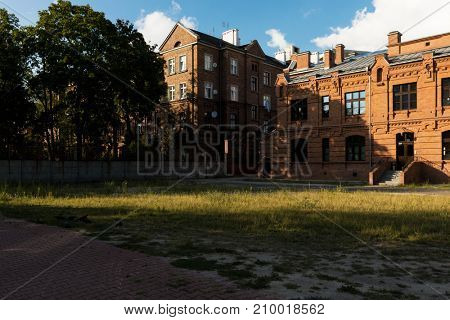 Nineteenth-century red brick architecture in Warsaw