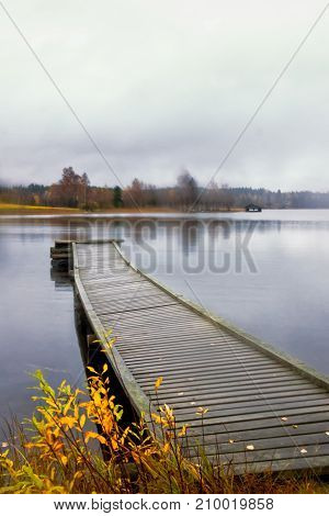 Pier And A Boat House