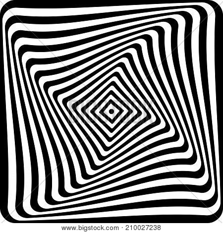 Abstract op art graphic design. Vector illustration.