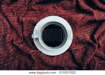 Cup of coffee for morning top view