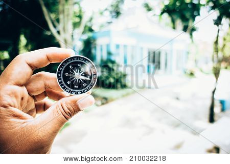 compass concept for find the nature in your life