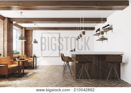White And Wooden Cafe, Poster