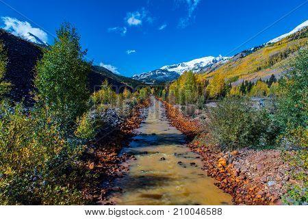 Colorado Rocky Mountain Runoff Stream - Ouray Colorado