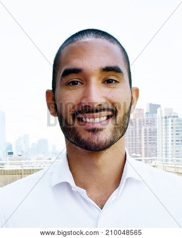 Smiling Happy Handsome Latino Man