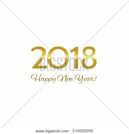 Golden Happy New Year 2018 greeting  card